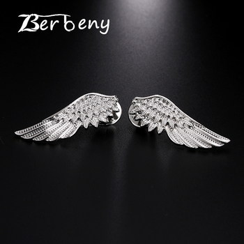 Berbeny Classic Retro Wings Brooches 2018 Newest Metal Feather Brooch Men&Women's Shirt Collar Buckle Coat Suit Accessories Pins