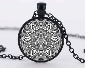 Namel mandala flower necklaces charm henna yoga pendant handmade necklace India style jewelry om symbol buddhism zen c-n 881