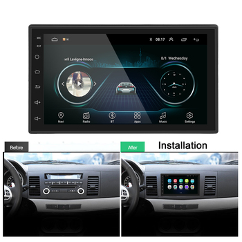 "Podofo Android 2 Din Araba radyo Multimedya Video Oynatıcı GPS Navigasyon 2 din 7 ""HD Evrensel oto Ses Stereo wiFI Bluetooth USB"