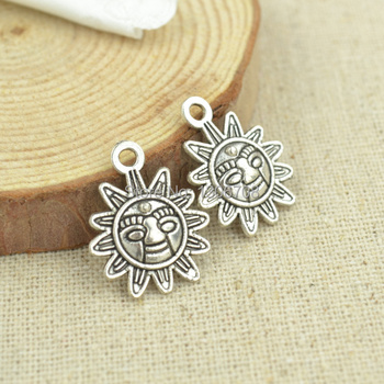 Hot 100pcs -metal tibetan silver charms sun diy pendants fit necklace&bracelets jewelry making 3036