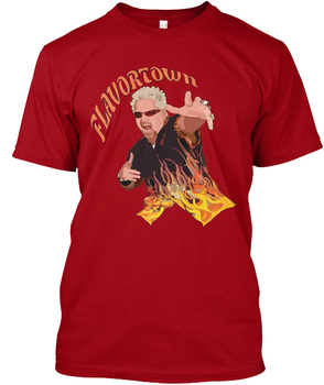 Guy Fieri Flavortown Popüler Tagless Tee T-Shirt